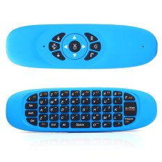 2.4GHz 3D Somatic Handle Wireless Air Mouse + QWERTY Keyboard + Remote Control (Blue)