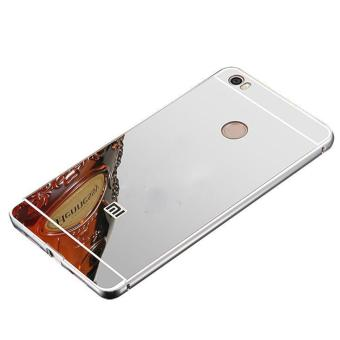 2 in 1 Aluminum Metal Bumper Frame Detachable + Mirror Hard ArcyclePC Back Case For Xiaomi Mi Max - intl