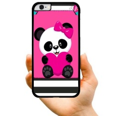 2017 New Fashion Hot Sale Style Panda With Pink Bow Creative Pattern Hard Plastic Phone Case For Samsung Galaxy Samsung Galaxy J7 2016 / J710(Multicolor) - intl