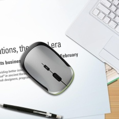2.4GHz Ultra-Slim Mini USB Wireless Optical Mouse Silver For PC Laptop - intl