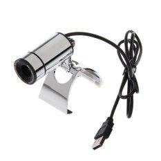 2pcs Clip Style 3.0 MP USB Digital Computer / Laptop Metal Web Camera - (Silver) - Intl