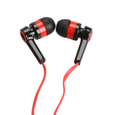3.5mm Candy Color In-Ear Earphone Flat Cable (Red) (Intl)