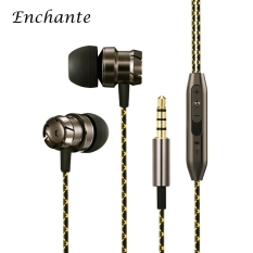 3.5mm HiFi Stereo In-Ear Metal Music Earphones Noise Cancelling Wired Earphones Bass Stereo Earbuds With Mic Control For Iphone Android- Intl