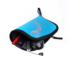 3 In 1 Multifunction Stationery Bag Mouse Fittings Bag Mouse Pad Mouse Mat (Blue) (Intl)
