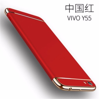3 in 1 Ultra thin PC hard cover case phone case for VivoY55/Y55A(Red) - intl
