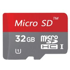 32 GB Class 10 Micro memori kartu SD dengan adaptor (Merah)