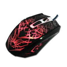 3200 DPI 7D LED Optical USB Wired Gaming Mouse Mice For Pro Gamer Black (Intl)