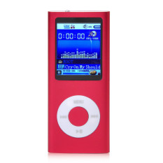 32GB 1.8inch MP3 MP4 Slim Digital LCD Screen FM Radio Music E-book Video Player + USB Cable + Earphone (Red)