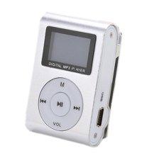 32GB Micro SD Support Mini MP3 Player Clip USB FM Radio LCD Screen (Silver) - Intl