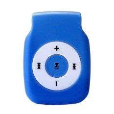 32GB Mini Clip Metal USB MP3 Player (Blue) - Intl