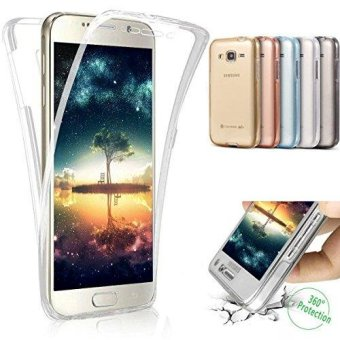 360 Degree Full Protective Soft Clear Crystal Gel TPU Case Front + Back Cover for Samsung Galaxy J5 2016/ J510 - intl