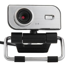 360 Degree Rotatable HD Webcam Clip-on Web PC Camera With MIC For Home Office (Black