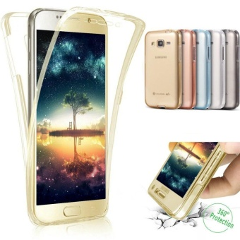 360 Full Body Protective Ultra-Slim Soft Clear TPU Case SiliconeRubber Bumper Case Cover for Samsung Galaxy J7 2016 J710 - intl