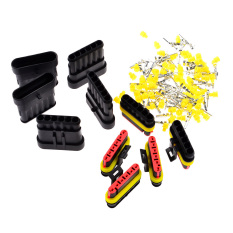 360DSC 5 Kit Sets Car 6-Pin Terminals HID Waterproof Electrical Wire Connectors Plugs (Black)