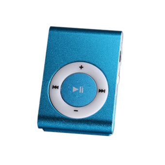 3C00MP3050000 High Quality Superior Mini USB Clip MP3 Player (Blue)