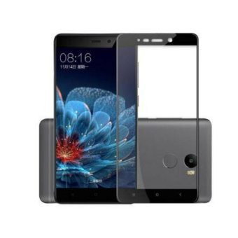3D Full Cover Tempered Glass Warna Screen Protector for XiaomiRedmi 4 - Black