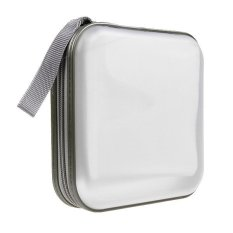 40/80 Disc CD DVD VCD DJ Storage Organizer Case Wallet Holder Album Bag Hard Box (White)