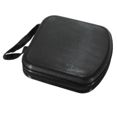 40 Disc CD DVD VCD Storage Holder Sleeve Case Hard Box Wallet Carry Bag Zipper Black