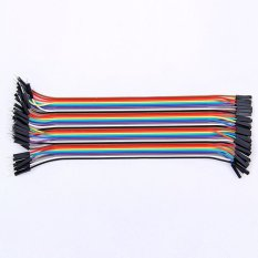 40pcs Dupont Wire Jumper Cable 2.54mm Male To Female 20cm