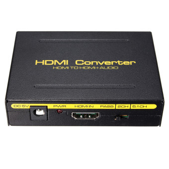 5.1CH 1080P HDMI To HDMI + SPDIF + RCA L / R Audio Splitter Extractor Converter US