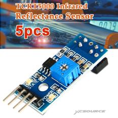 5 Pcs TCRT5000 Infrared Reflectance Sensor Obstacle Avoidance Track Module IR TE364 - Blue