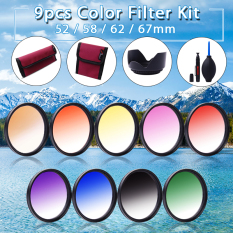 52mm 9pcs Graduated Color Filter Set For Nikon D7000 D5200 D3200 D800 D600