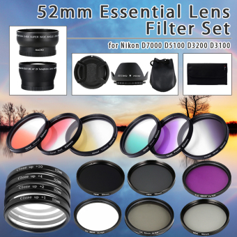 52mm Super Lens Filter Kit Close-up ND UV CPL For Nikon D5300 D5200 D5100