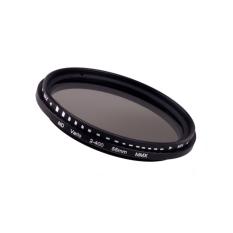 55mm Fader Variable ND Filter Adjustable ND2 To ND400 Neutral Density (Black)