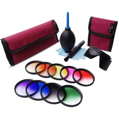 58mm 9pcs Grad Graduated Color Filter Kit + Cleaning Kit For DSLRCamera - Intl