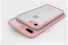 5XIAOHUO Stylish high-end ultra-thin transparent phone Case For iphone 6S 6 case throttle TPU border For iphone 6S 6 Cover - intl