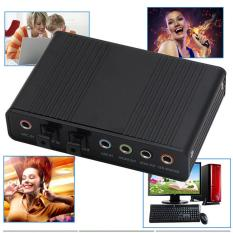 6 Channel Sound Card USB External Digital Optical SPDIF Audio Output Adapter for PC - intl