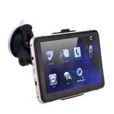 "7"" HD Touch Screen Portable Car GPS Navigation 128MB RAM 4GB FM Video Play Champagne Gold Car Navigator + Free Map (Intl)"