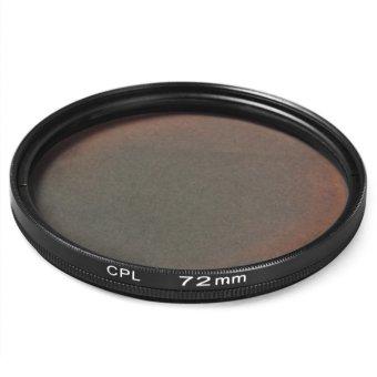 72mm CPL Filter Lens For Canon Nikon DSLR Camera (Black)