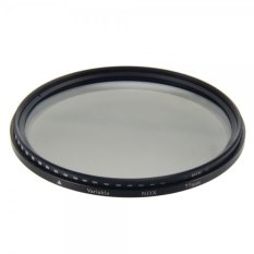 77mm Digital Variable ND Camera Lens Filter Gray & Black Border