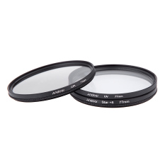 77mm Filter Set UV + CPL + Star 8-Point Filter Kit With Case For Canon Nikon Sony DSLR Camera Lens (Black)