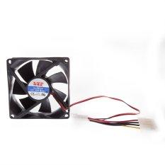 8 Centimetre CPU Cooler Fan 4 Pin Black (Intl)