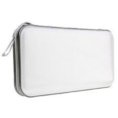 80 Discs CD DVD VCD DJ Storage Organizer Holder Case Bag Box Zipper Album Pouch (White)