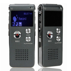 8GB Digital Audio Voice Recorder Rechargeable Dictaphone Telephone MP3 Player Gray (Intl)