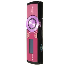 8GB LCD Display USB Mp3 Media Player FM Radio Xmas Gifts Support Voice Record Purple (Intl)