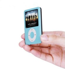 8GB Memory Slim Classic Digital LCD MP3 Player / MP4 Player, MP3 Music Player, Blue- Intl