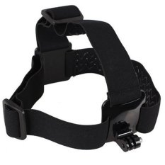 Accessories For Hero 3 2 Elastic Head Strap Adjustable Headstrap Go Pro SJ4000 Head Belt HD Camera Black Edition For Gopro (Black)