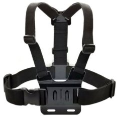 Adjustable Camera Sport Chest Fixed Straps Mount Support For GoPro Camera (Black) - Intl