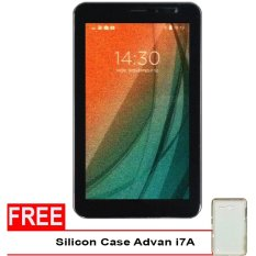 Advan Vandroid i7A 4G LTE Tablet - 8GB - Coffee + Gratis Silicon Case