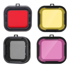 Underwater Red Yellow Color Diving UV Filter For GoPro Hero 4 3 + Xiaomi