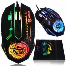 Alcatroz X-Craft TREK1000 Macro Gaming Mouse 6D USB with Mousepad - Hitam