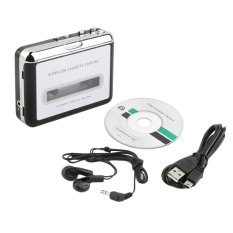 Allwin Tape To PC Super USB Cassette-to-MP3 Converter Capture Audio Music Player NEW Black (Intl)