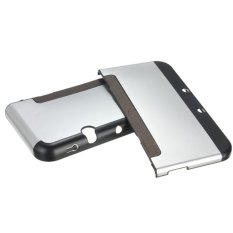 Aluminium Metal Skin Protective Case Cover For 2014ver NEW Nintendo 3DS XL / LL Silver