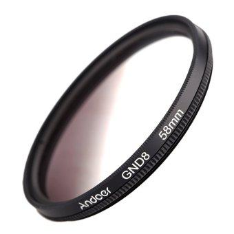 Andoer 58 mm lingkaran bentuk lulusan Kepadatan netral GND8 lulus kelabu tapis untuk Canon Nikon DSLR