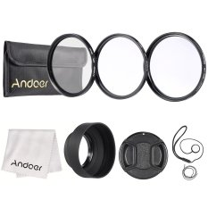 Andoer 62mm Lens Filter Kit (UV + CPL + Star + 8) With Lens Accessories