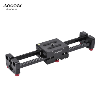 Andoer FT-40 Retractable Camera Video Slider Dolly Track Rail Stabilizer 40cm Length 80cm Actual Sliding Distance Aluminum Alloy Constructed for Canon Nikon Sony DSLR Camcorder